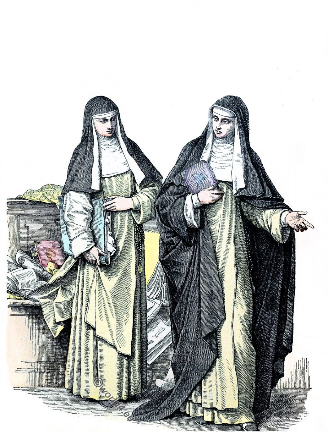 Nuns, Habit, costume, Dominicans, Catholic Order,