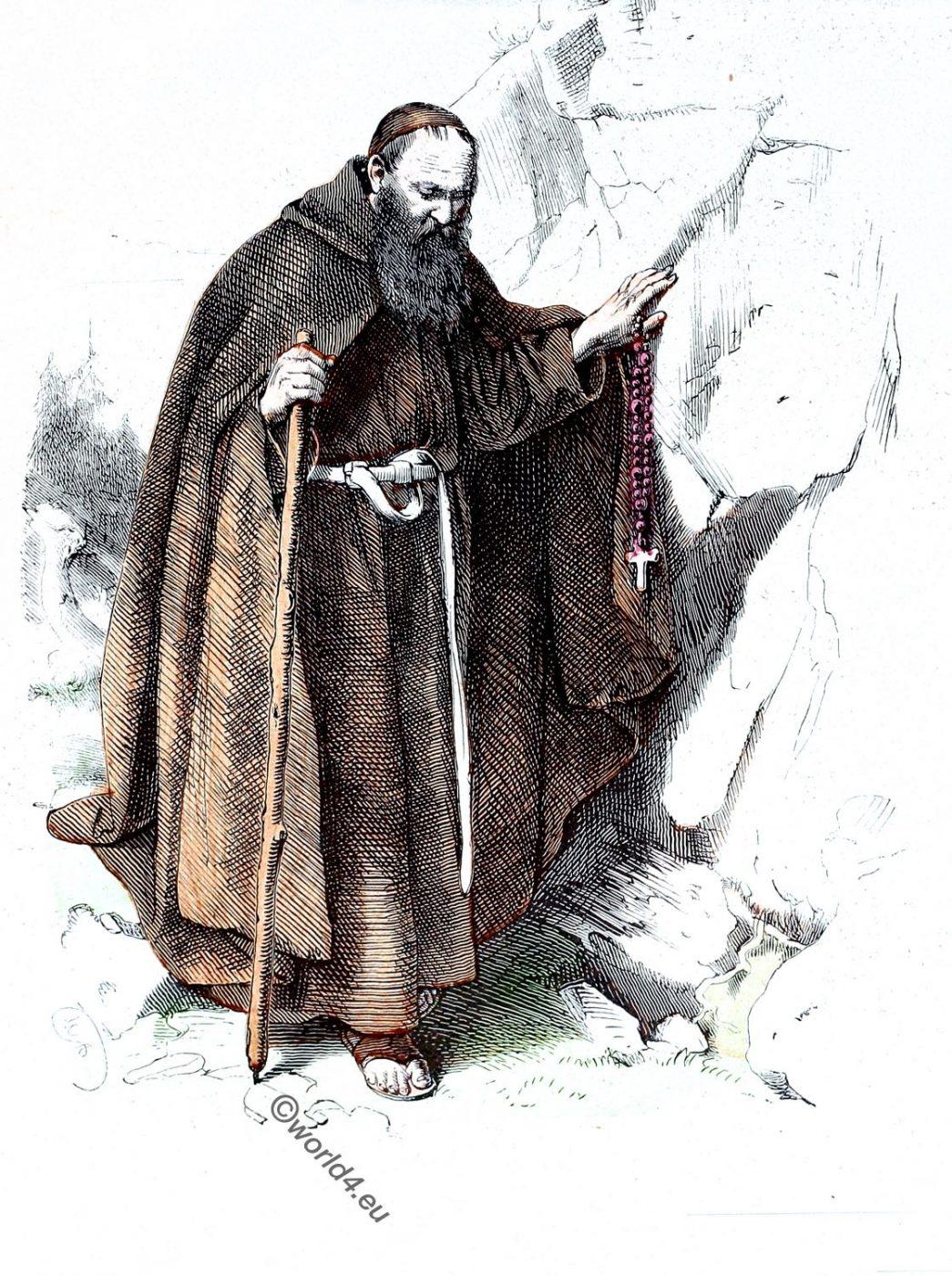 Hieronymites, hermit, monks, Ecclesiastical habit, religious order
