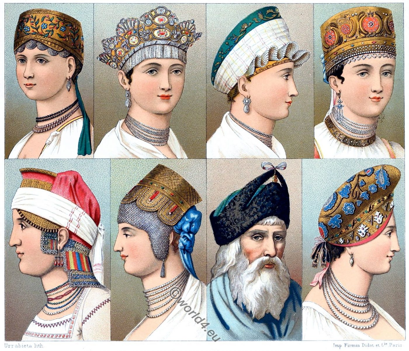 Коко́шник, Kokoshnik, Russia, hairstyles, headgear, Traditional,