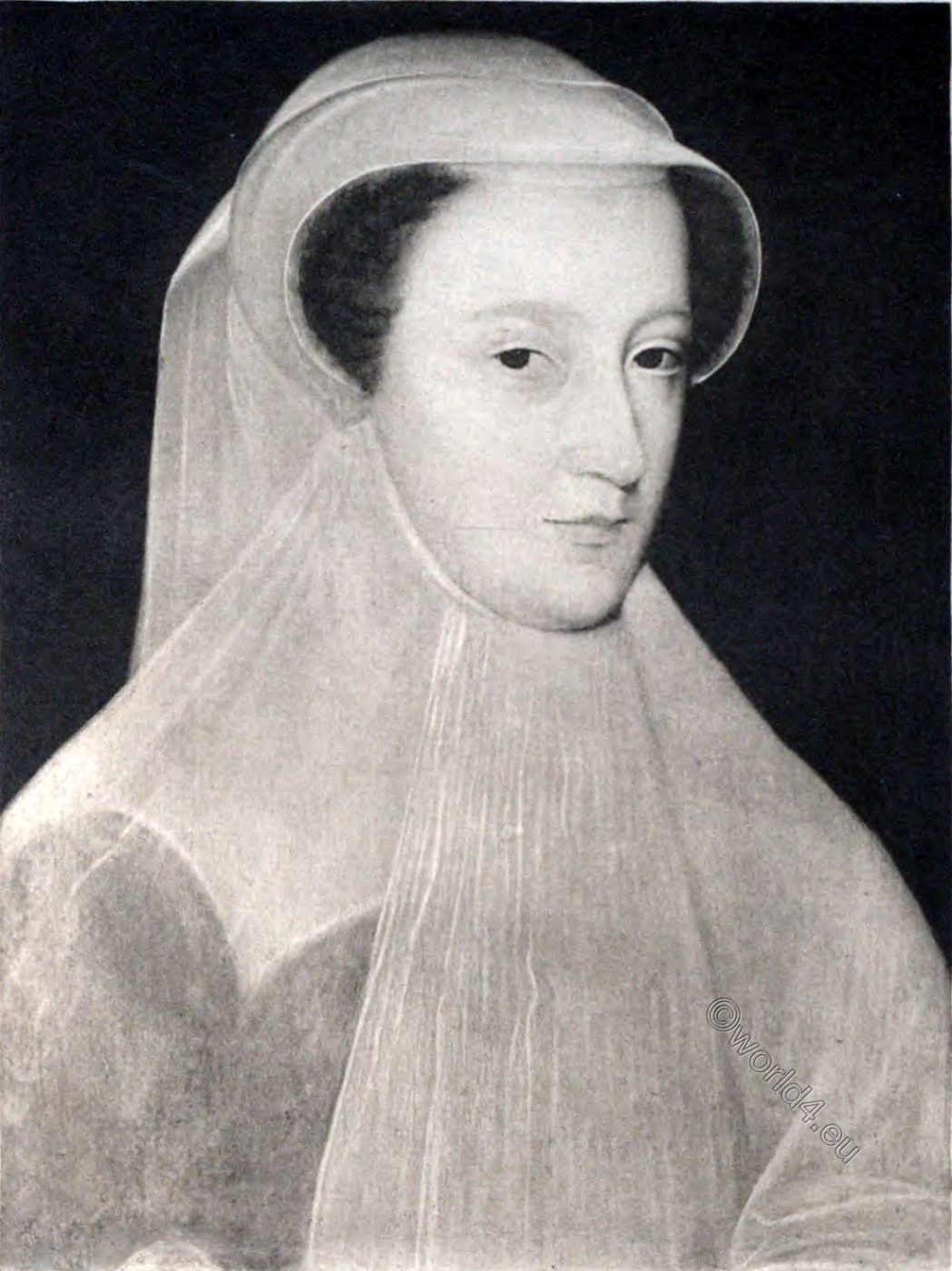 Mary Stuart, Queen, France, widow, dress, Windsor Castle, painting, Dowager,