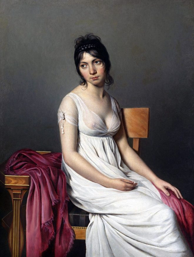 Young Woman, merveilleuse, directoire, Jacques-Louis David,