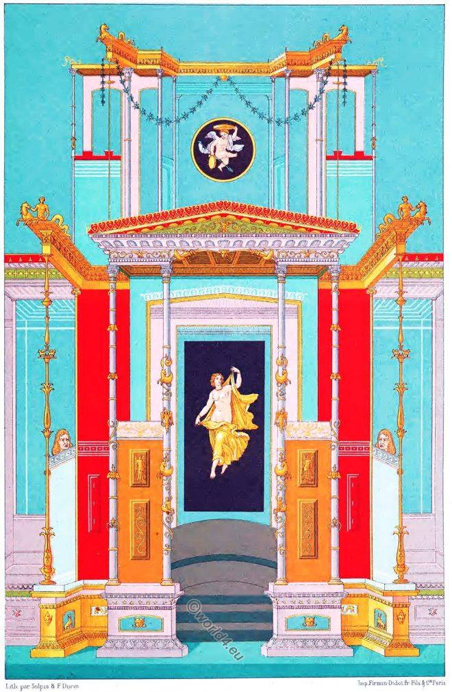 Auguste Racinet, Ornaments, Pompeian, Pompeii, decoration, ancient