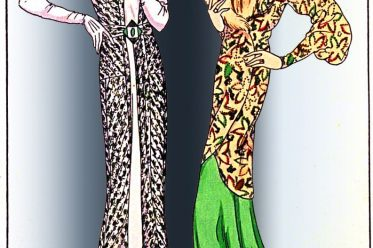 PAUL POIRET, Elégante, robe, costumes, art deco,