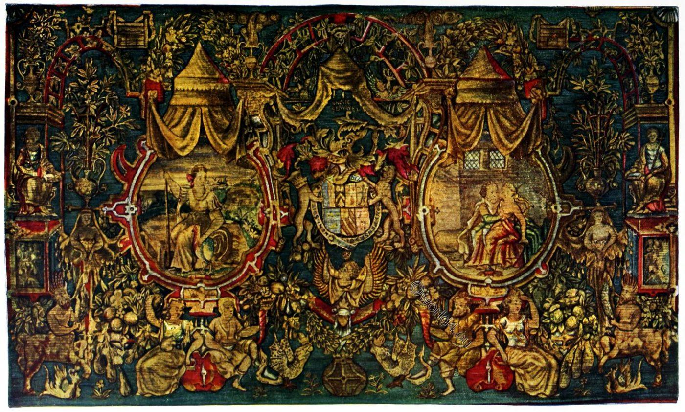 Tapestry, England, Tudor, Earl, Pembroke, Armorial,