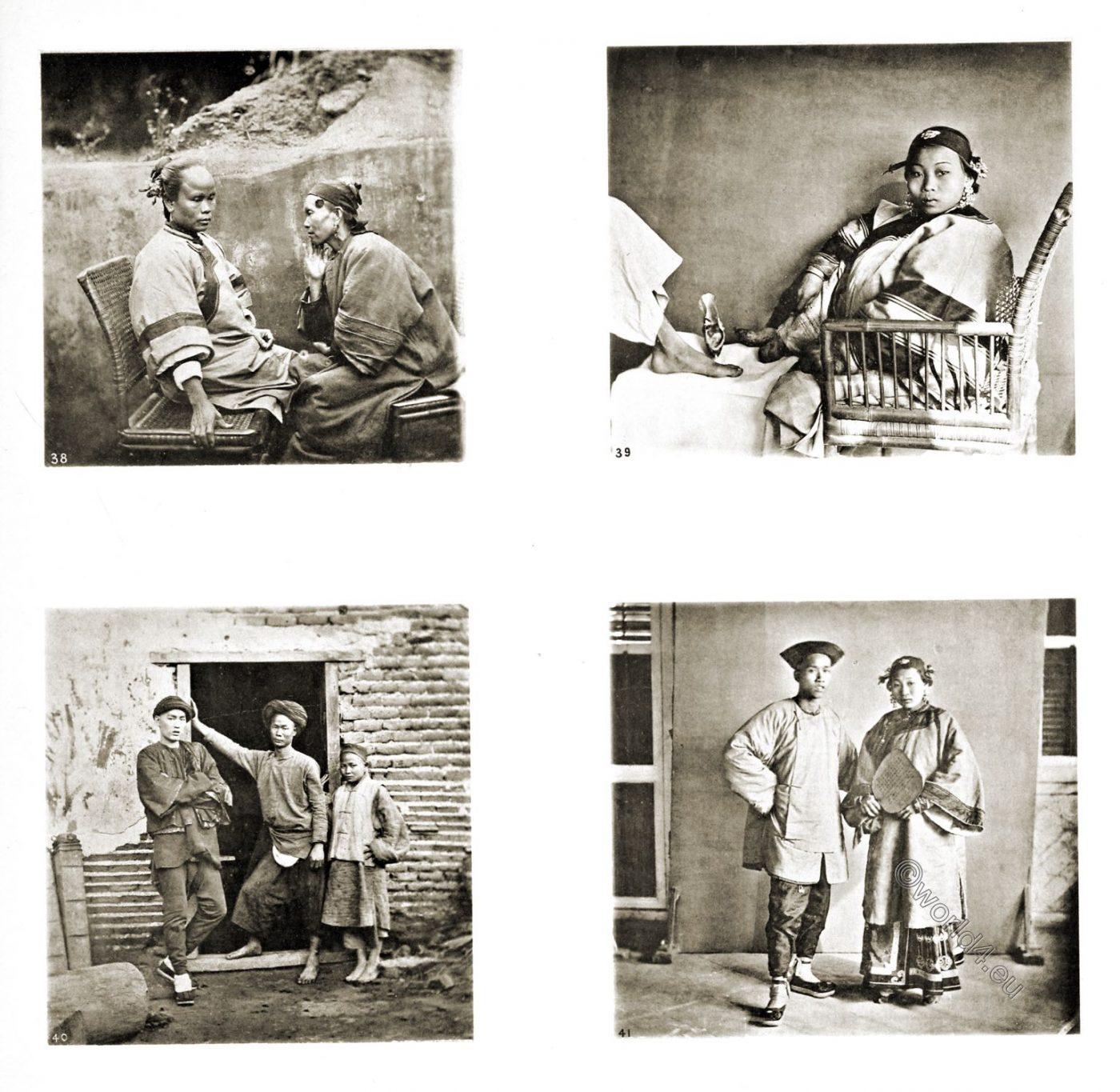 Amoy,  Xiamen, bound feet, costume, John Thomson, Photograph