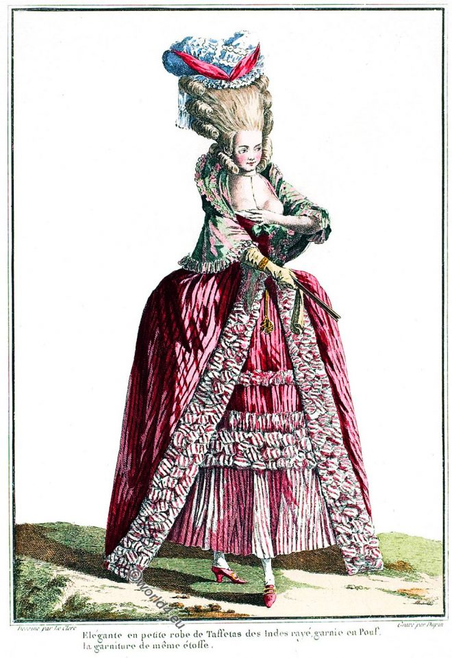 Rococo, Robe, fashion, france, Costumes Français