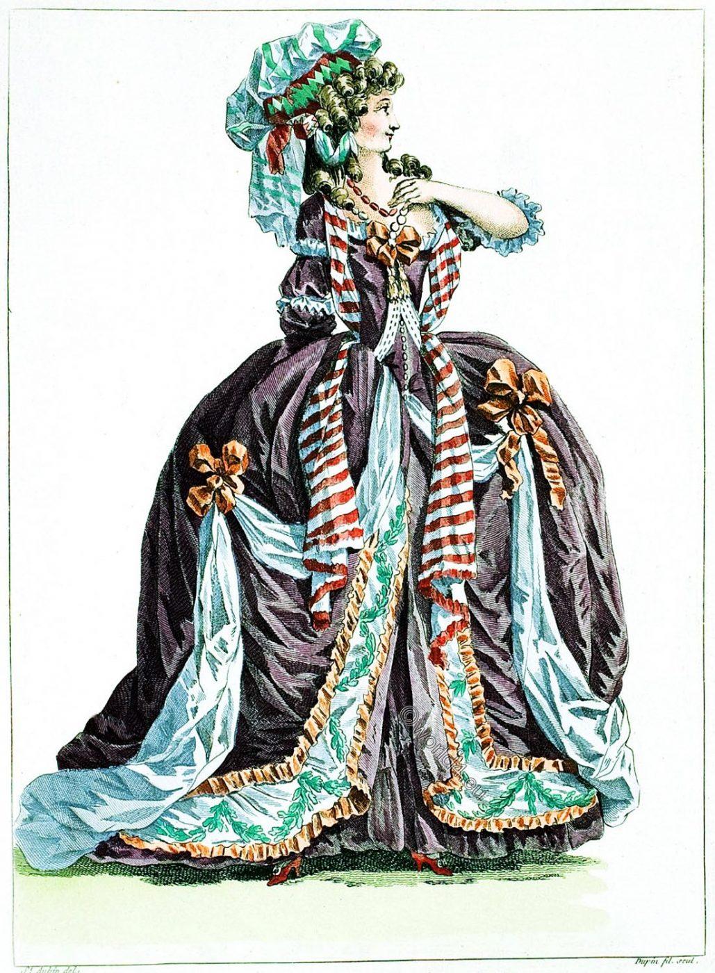 Fashion, Rococo, Robe, Cour, Orient, Coeffure, Costume