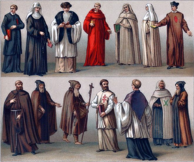 monastic, orders, costumes, habit, monks, nuns,