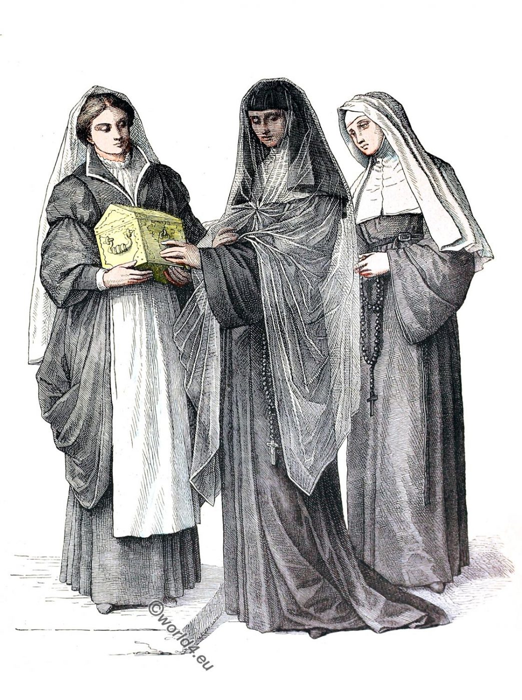 Nuns, Habit, costume, Ursulines, Catholic Order,