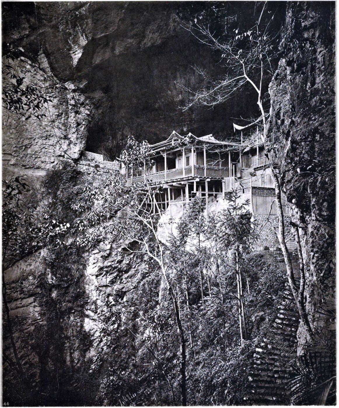 John Thomson , Yuen-fu, Monastery, Cave, Fukien province, China,