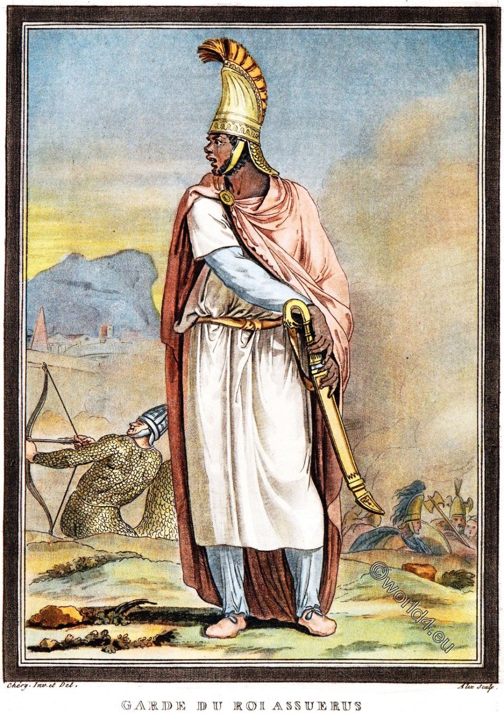 Soldier, Assyria, royal guard, Antiquity, costumes, clothing