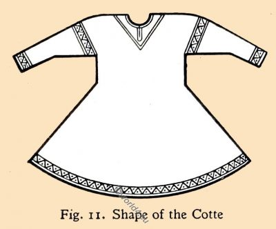 Cotte, Shape, Garment, costume, fashion history, middle ages,