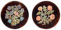 Embroidered, Stool, Covers, Hardwick Hall, England, Tudor, Stuart,