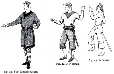 Norman, Knickerbockers, Peasant, England, middle ages, fashion, costumes