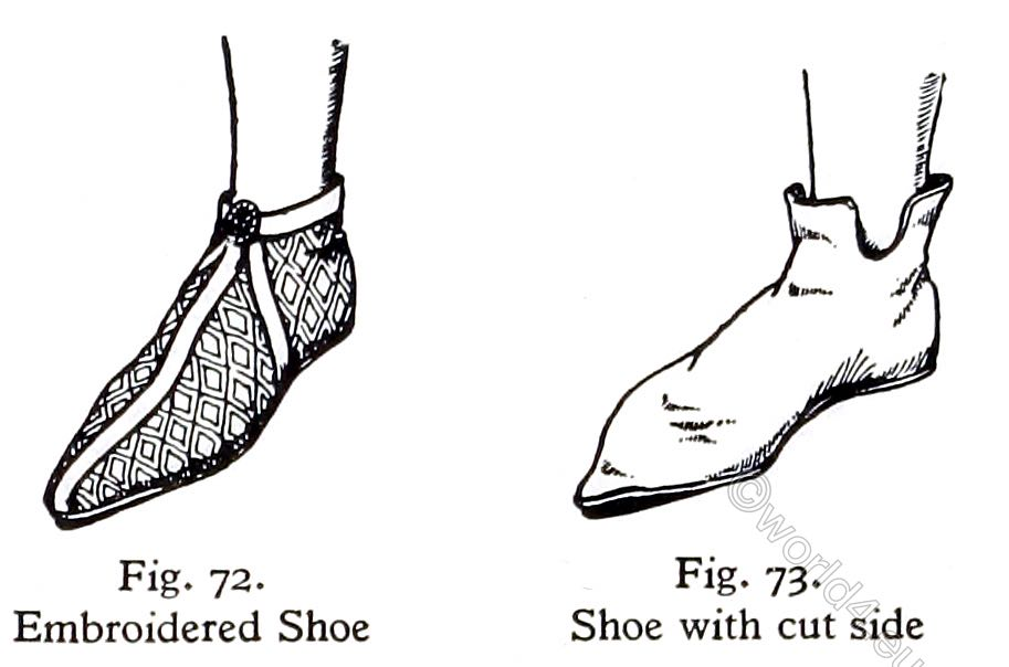 England, middle-ages, shoes, fashion