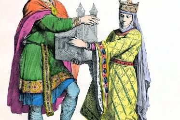 costumes, Frankish, king, queen, middle ages, fashion, germany
