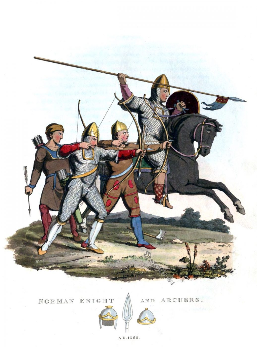 Norman, Knight, Archers, Soldiers, Middle ages, military