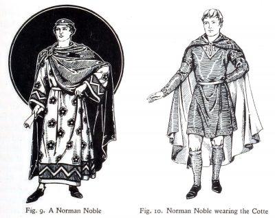 Norman, Noble, Cotte, costume, fashion history, middle ages,