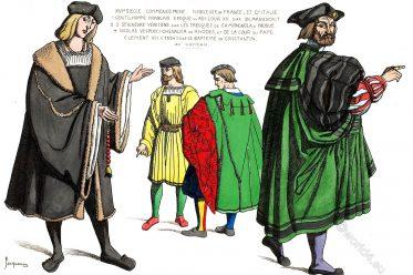 modes, costumes, Seigneurs, Venitiens, Gentilhomme, XVIe, siecle, Commencement, Noblesse, France, Italie,