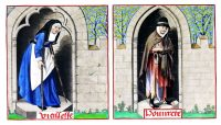 Age, Poverty, Middle ages, Illustration, costume, romance, rose, Henry Shaw,