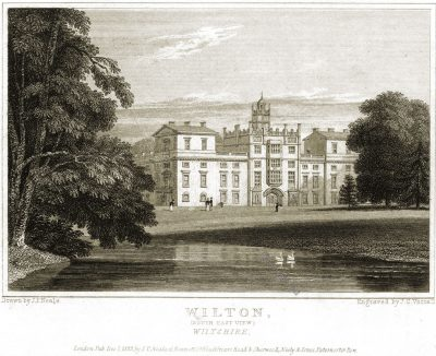 Wilton, Wiltshire, Engraving, Neale, Varralll,