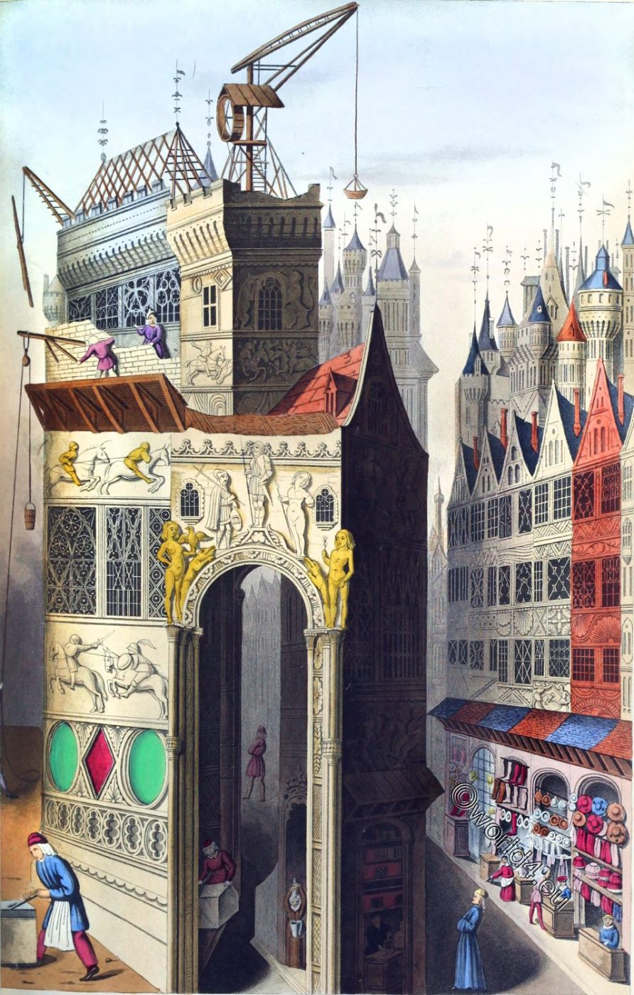 Troy, 15th century, Middle ages, architecture