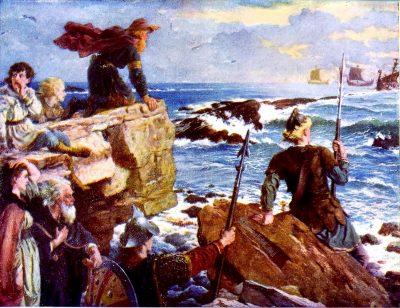 Danes, Vikings, England, ships,