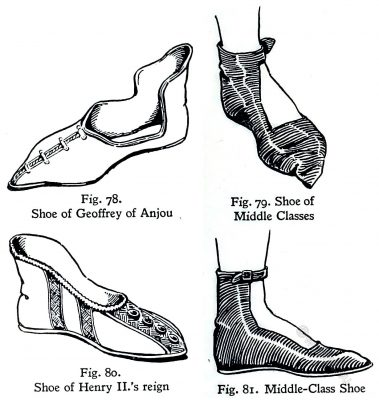 England, Shoes, fashion, middle ages, 11th century