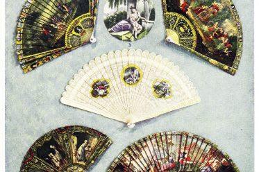 fan, Vernis, Martin, design, varnish, Ivory, Brisé, French,
