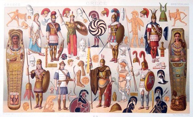 Ancient, Greek, Greece, hoplit, peltast, soldiers, army