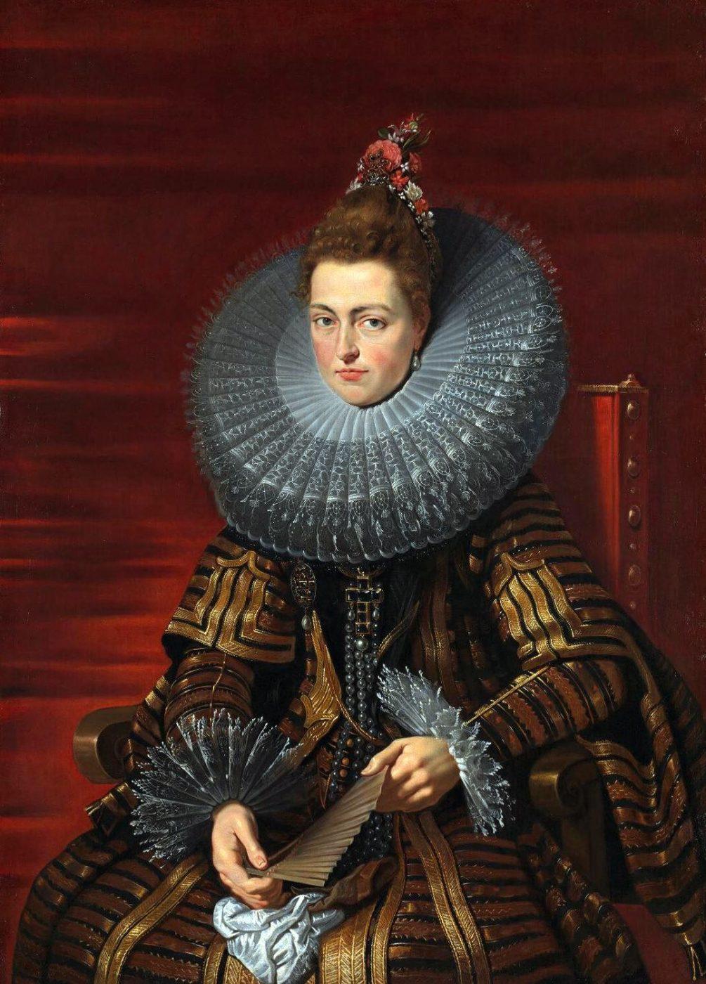 Infanta, ruffs, ruff, Isabella Clara Eugenia, Rubens