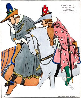 Italian Lords, Middle ages, costumes, fashion, italy