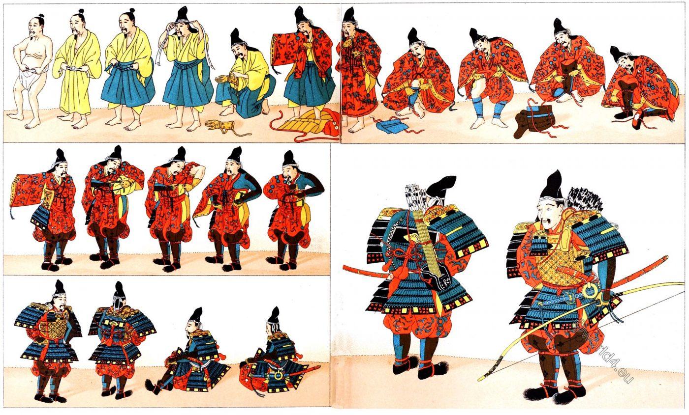 Japanese Archer, armor, Japan, costume, equipment, Samurai