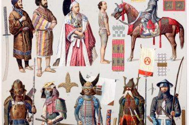 Japanese, Yakunin, Armor, court dress, nobility, Ainus, Daimio