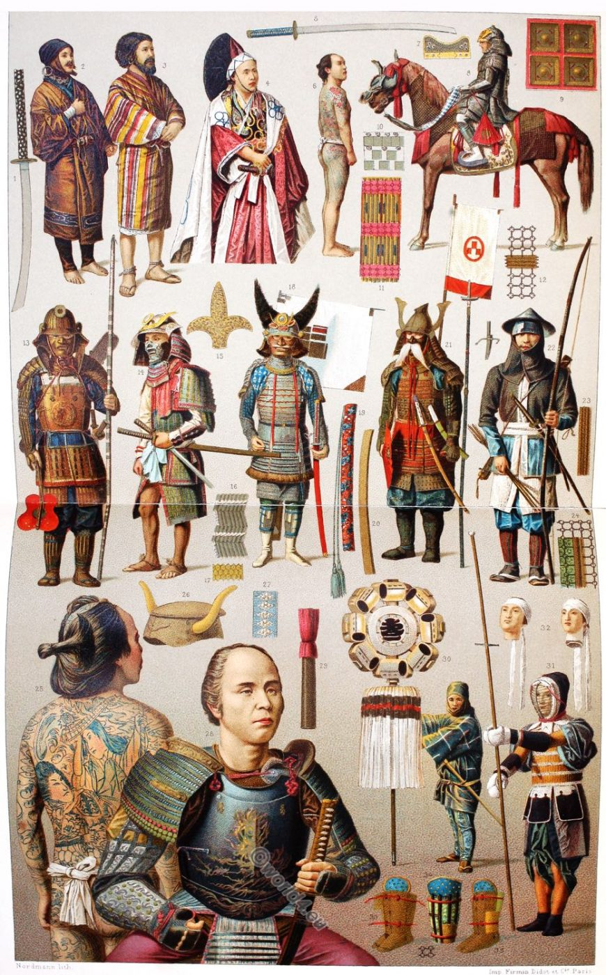 Japan, weapons, Armor, Culture, Costumes, clothing, Ainu, Japanese