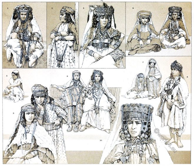 Berbers, Nomadic, Algeria, Tunisia, sahara, costumes, ethnic, fashion,