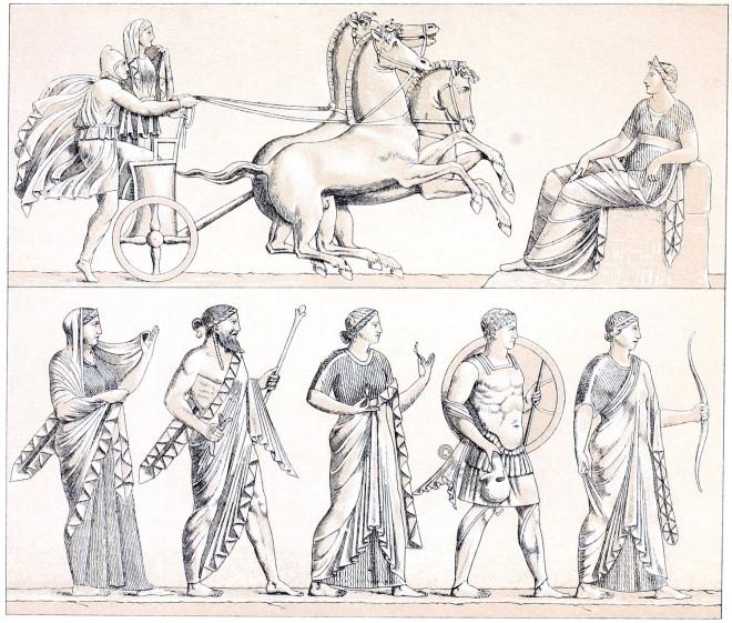 quadriga, greek-roman, Gods, culture,