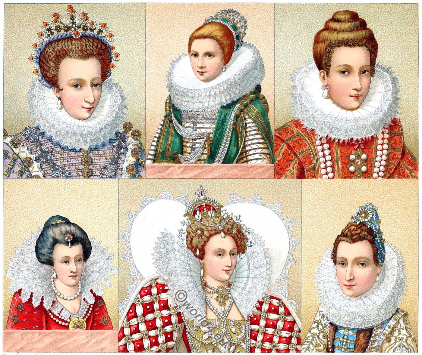 Ruffs, fashion, Tudor, renaissance, mode, lace,