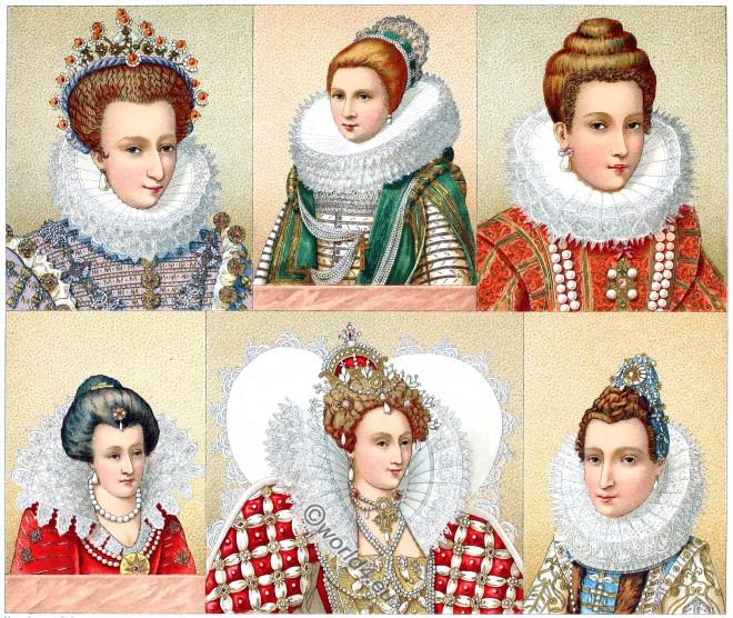 Ruffs, fashion, Tudor, renaissance, mode, spanische hoftracht