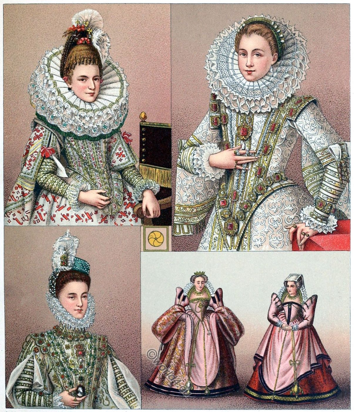 Ruffs, fashion, renaissance, mode, lace,