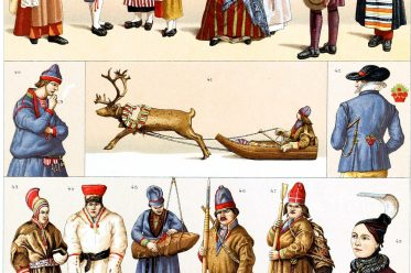 Sweden, Iceland, Lapland, Traditional, clothing ,Swedish, costumes, Auguste Racinet