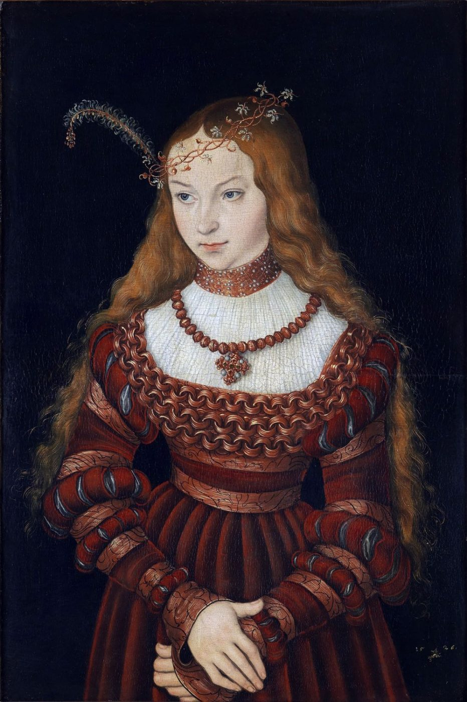 Sibylle, Cleves, Lucas, Cranach, portrait, renaissance, costume