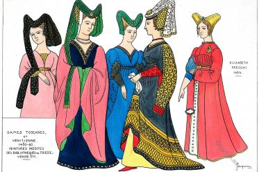 Tuscan, Venetian, Ladies, fashion, italy, middle ages, hennin,