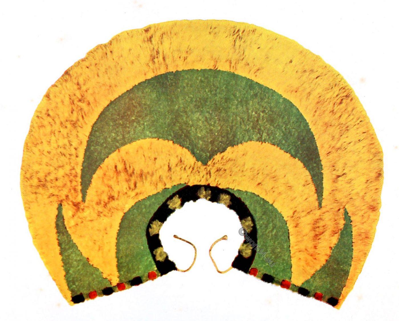 Ahuula, ʻahuʻula, capel, Hawaii, Hawaiian, feather, cloak