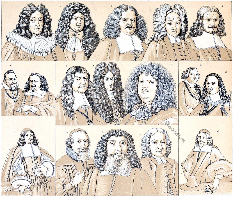 Beard, hair, wigs, Allonge, Rococo, baroque, fashion, Modes