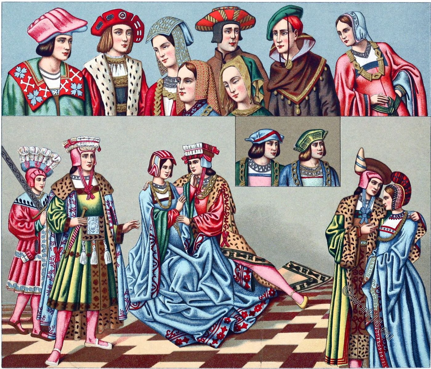 Fashion, Middle ages, Headdresses, Clothing, dress, costumes,