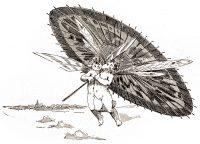 Cupids, love, umbrella