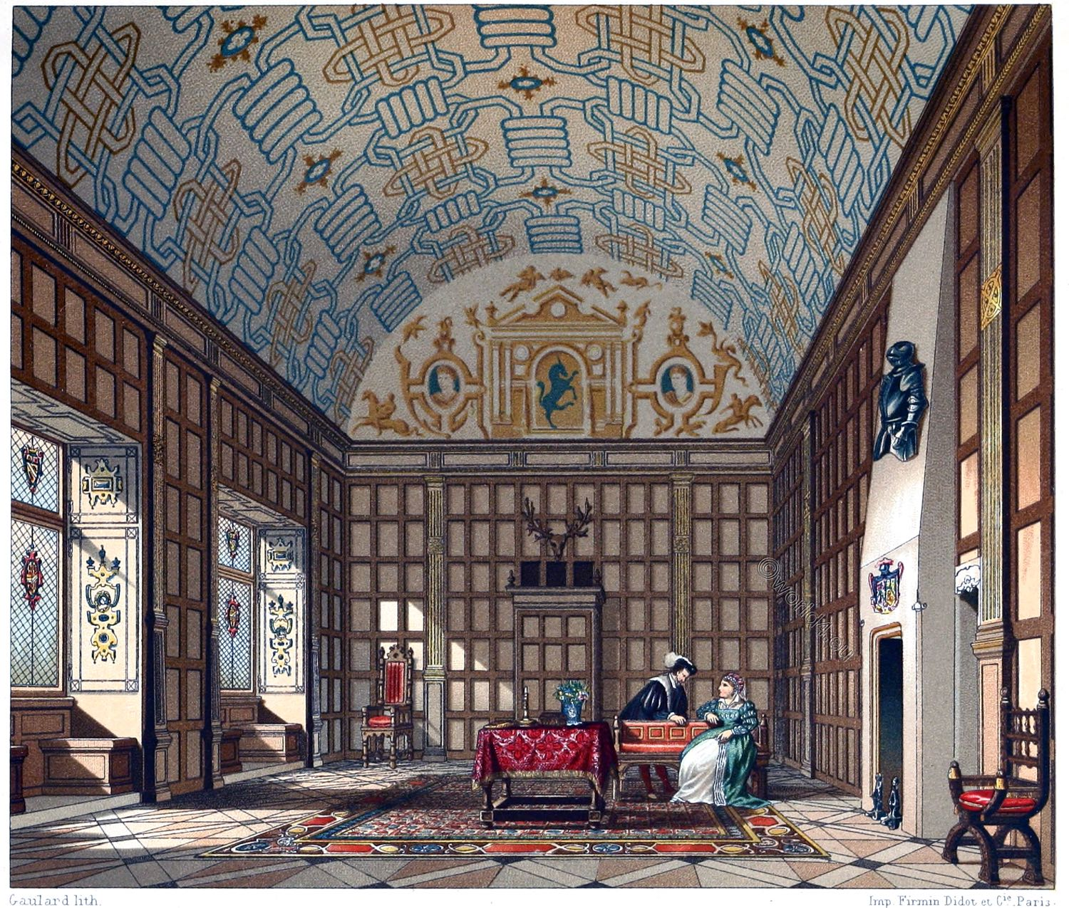 Boughton-Malherbe, Kent, Tudor, Renaissance, Reception hall, Elizabethan,