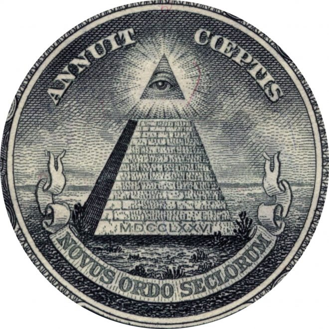 Eye, Providence, Illuminati, Freemasons, Freemasonry, United States, One, Dollar,