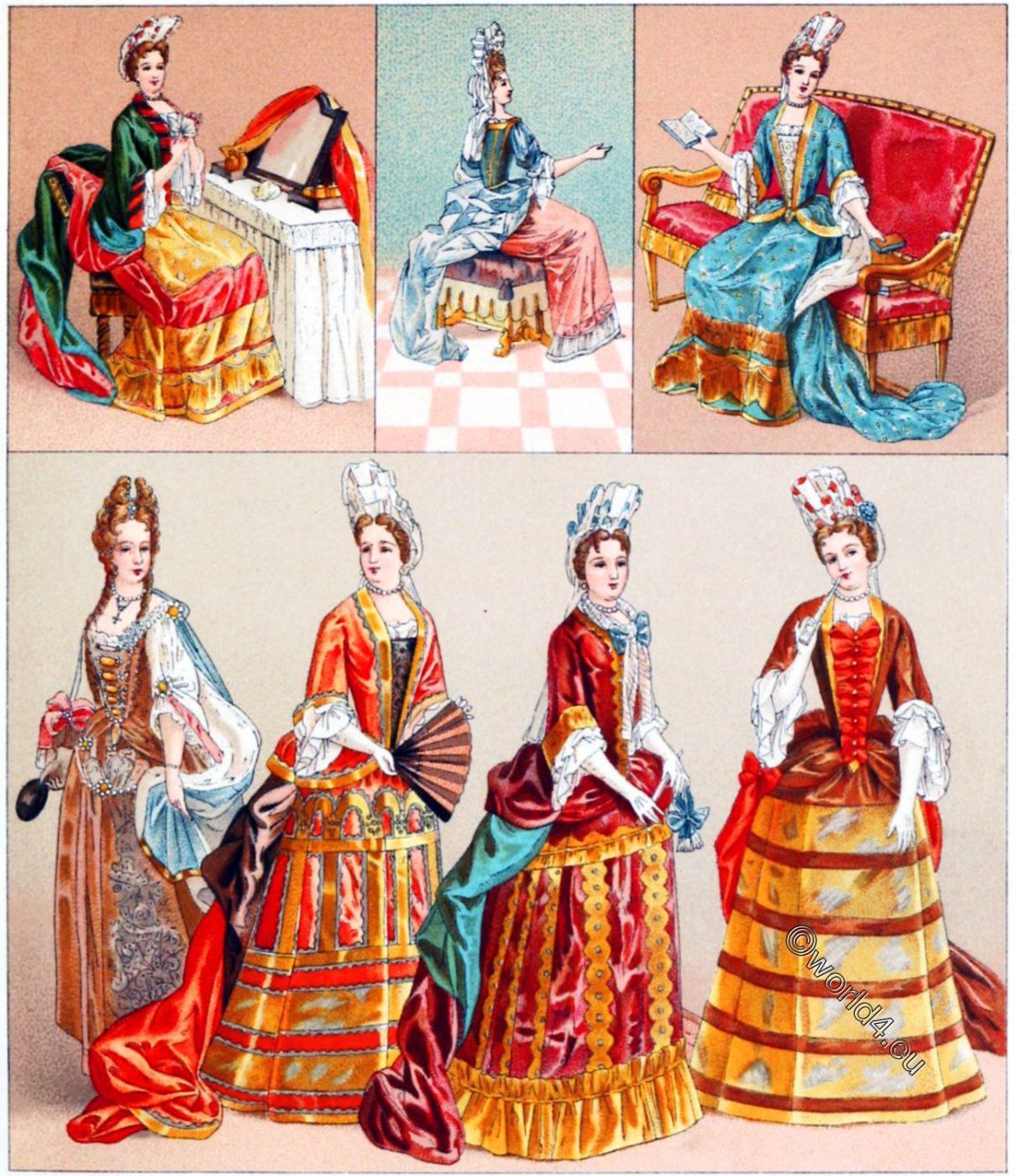 Fontange, Louis XIV, fashion, costumes, baroque,